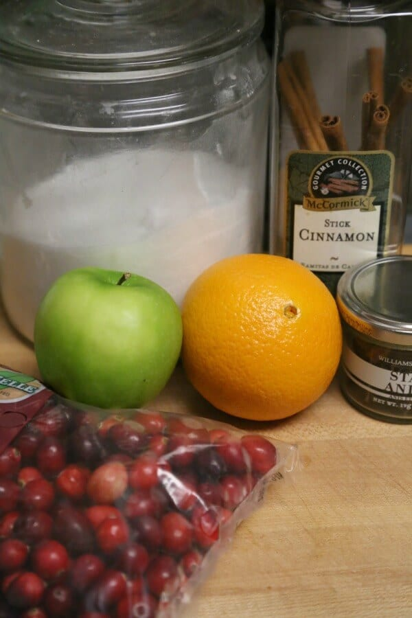 Homemade Cranberry Sauce with Orange and Apple - Ingredients | CookingInStilettos.com