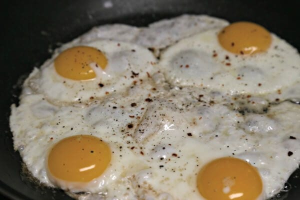 Meatless Loco Moco with Savory Onion Gravy - Sunny Side Up Eggs | CookingInStilettos.com