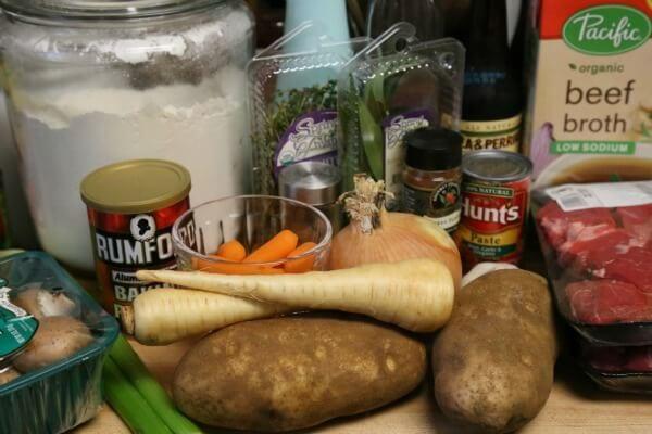 Slow Cooker Beef Stew with Biscuit Dumplings - Ingredients | CookingInStilettos.com