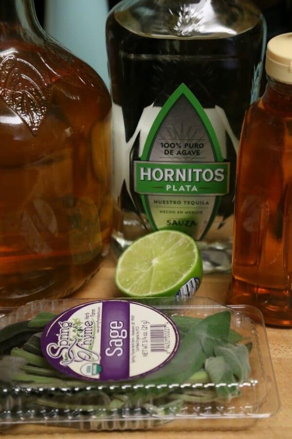 Tequila Cider Smash - Ingredients   CookingInStilettos.com