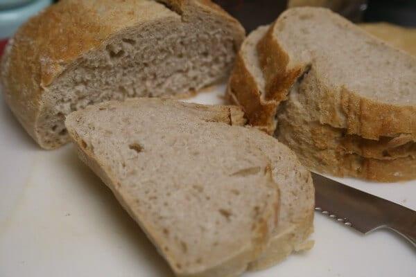 Thanksgiving Stuffing Recipe - Dicing the La Brea Bakery Bread | CookingInStilettos.com