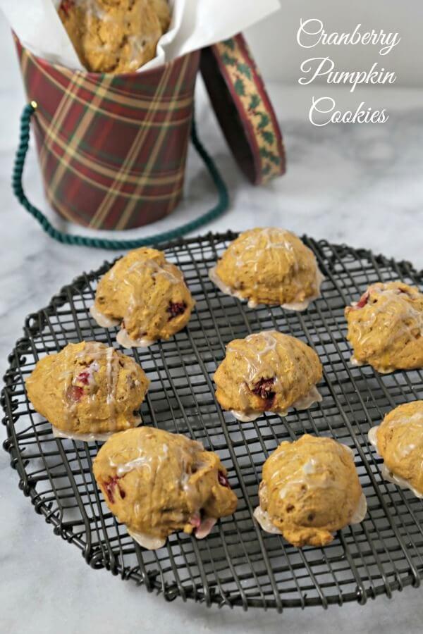 Cranberry Pumpkin Cookies | CookingInStilettos.com