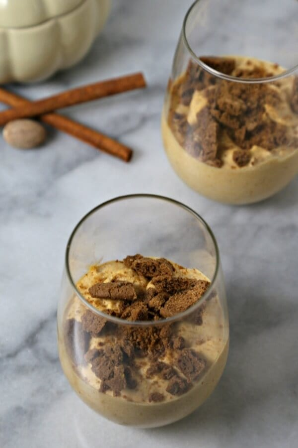 This easy Spiced Pumpkin Mousse from CookingInStilettos.com is a chic dessert with the flavors of fall woven throughout and comes together in minutes. How easy is that?