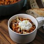 Easy Three Cheese Lasagna Soup | CookingInStilettos.com