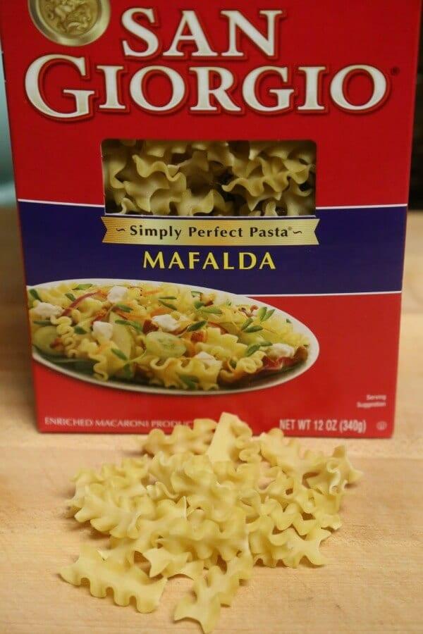 Easy Three Cheese Lasagna Soup - Mafalda Pasta   CookingInStilettos.com