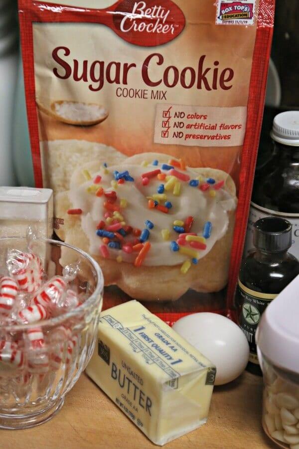Peppermint Cookie Bark - Ingredients | CookingInStilettos.com