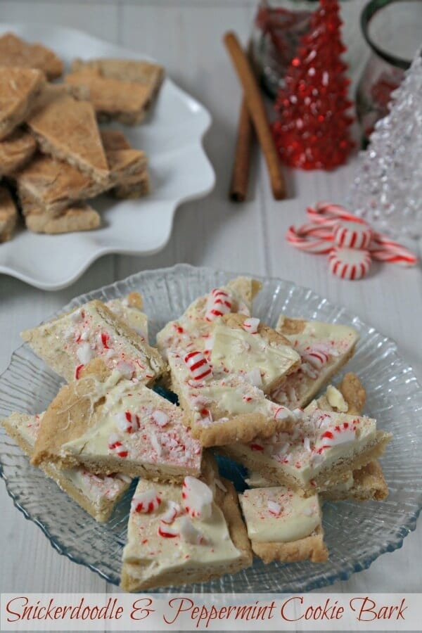 Peppermint Cookie Bark and Snickerdoodle Cookie Bark are sweet treats for the holiday cookie tray. #SpreadCheer this holiday season and bake up a batch to share!