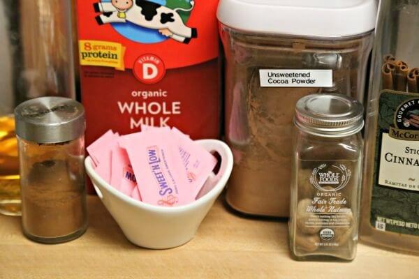 Skinny Homemade Hot Chocolate - Ingredients | CookingInStilettos.com