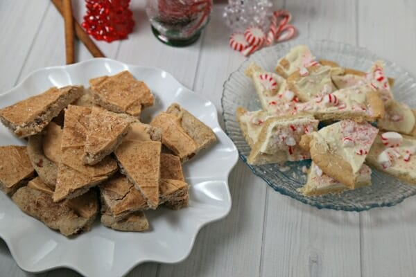 Snickerdoodle and Peppermint Cookie Bark | CookingInStilettos.com