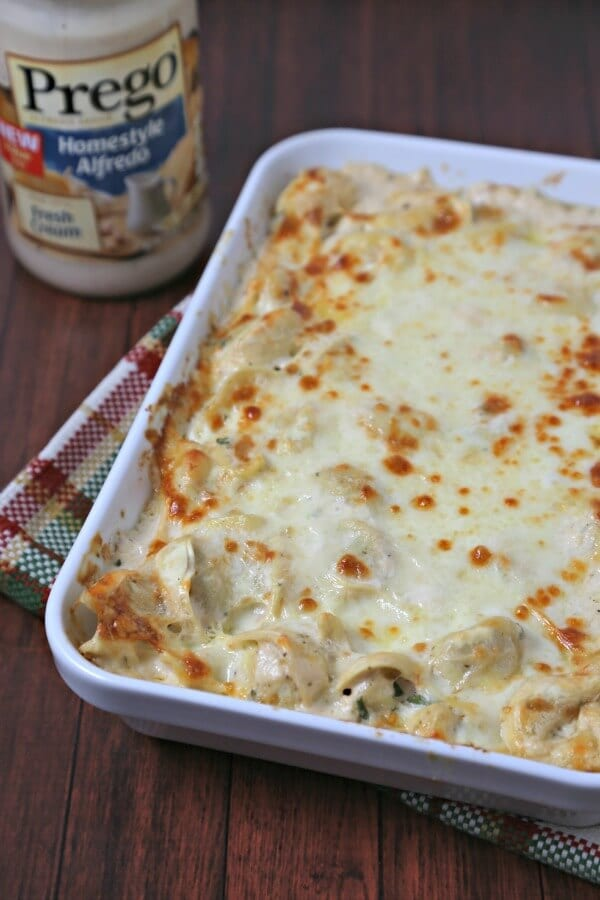 Easy No Boil Baked Tortellini | CookingInStilettos.com