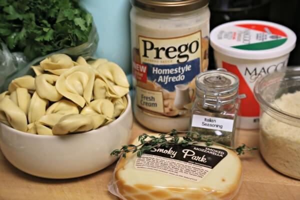 Easy No Boil Baked Tortellini - Ingredients | CookingInStilettos.com