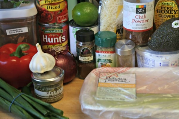 Baja Chicken Chili - Ingredients | CookingInStilettos.com