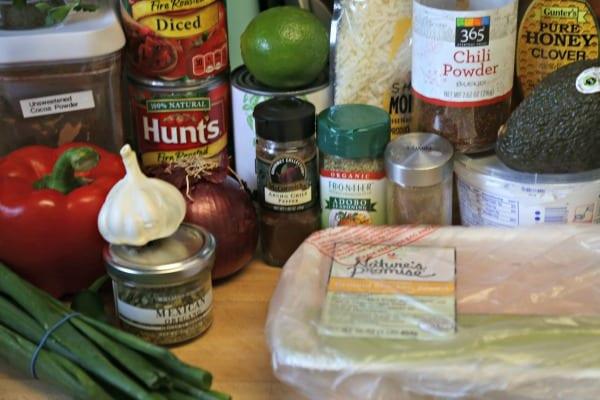 Baja Chicken Chili - Ingredients | CookingInStilettos.com