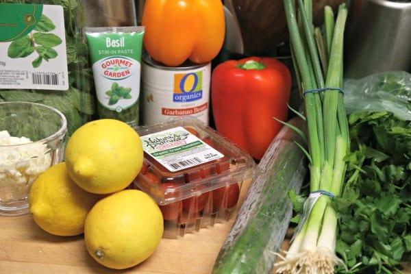 Middle Eastern Chickpea Salad - Ingredients | CookingInStilettos.com