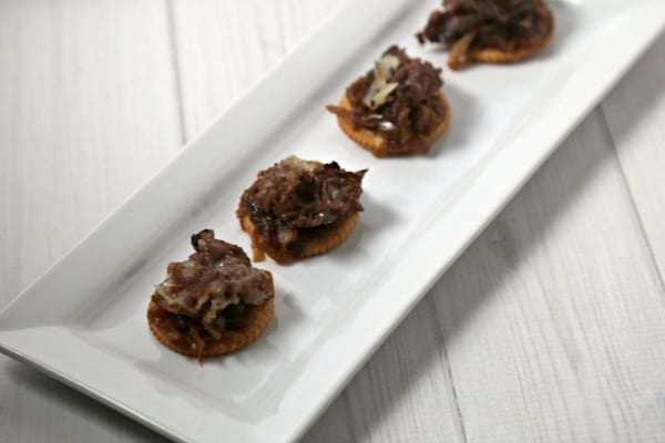 Philly Steak Style RITZwich | CookingInStilettos.com