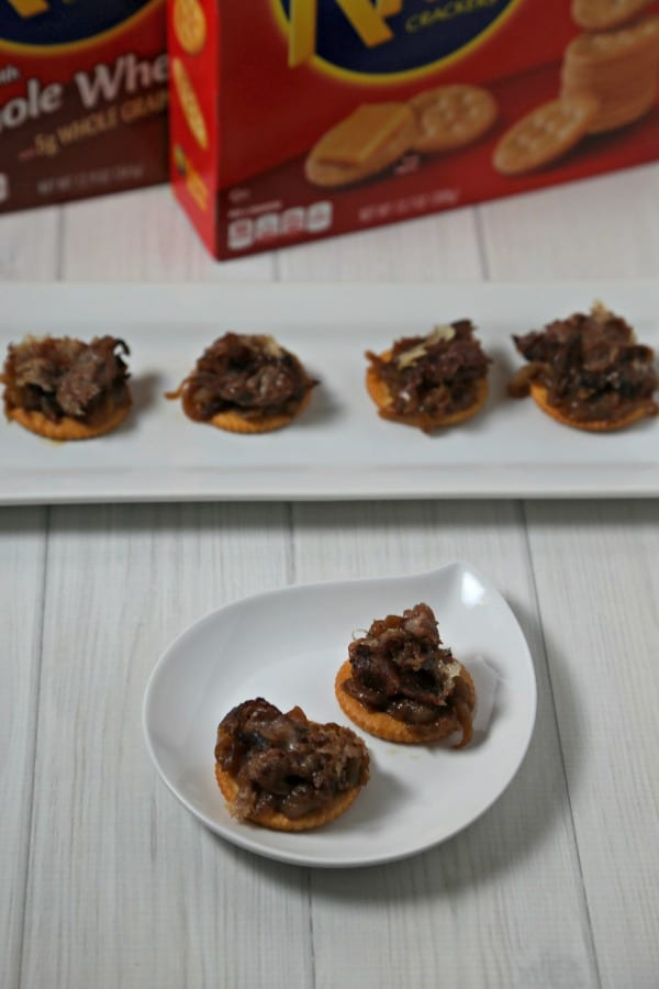 Philly Steak Style RITZwich | CookingInStilettos.com