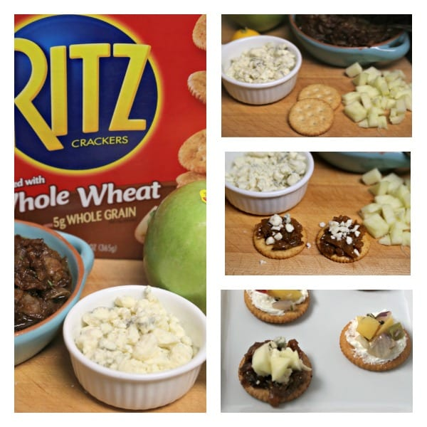 Philly Steak Style RITZwich - Blue Cheese and Apple RITZwich | CookingInStilettos.com
