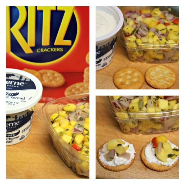Philly Steak Style RITZwich - Mango Salsa and Cream Cheese RITZwich | CookingInStilettos.com