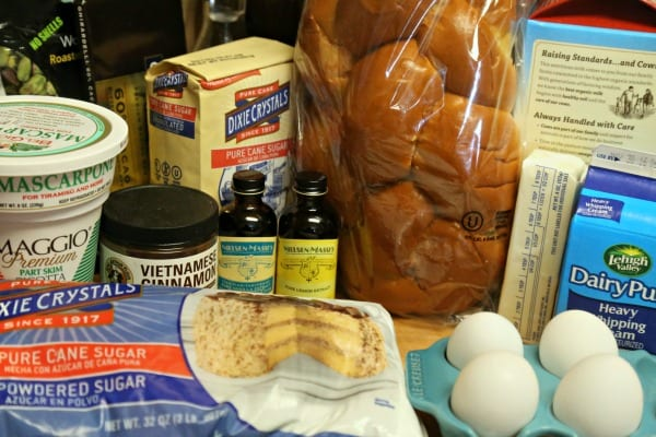 Cannoli French Toast - Ingredients | CookingInStilettos.com