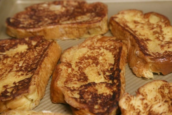 Cannoli French Toast - Off to the Oven | CookingInStilettos.com