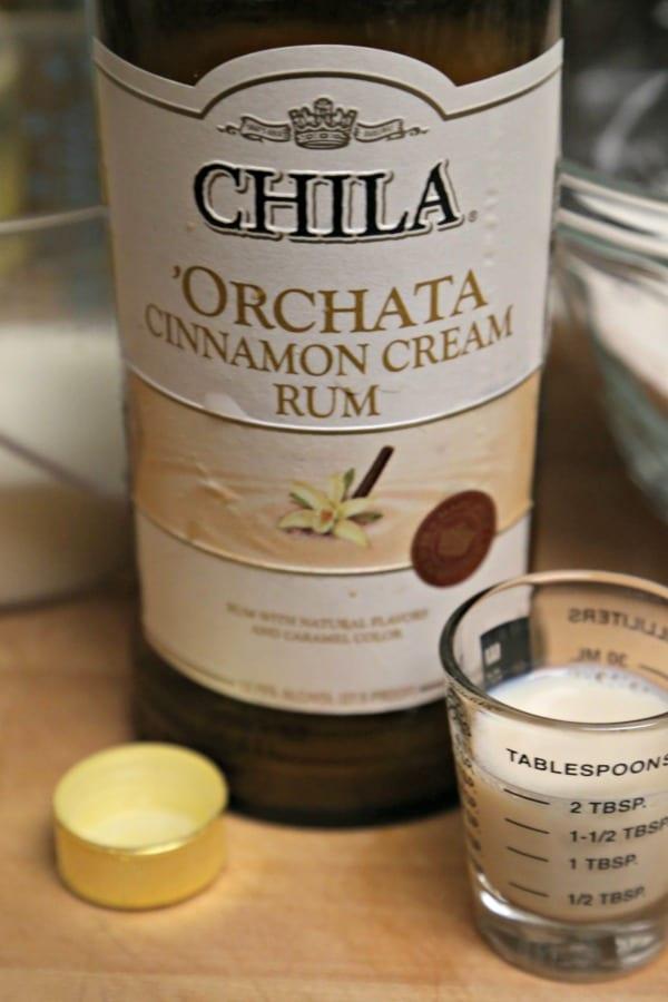 Chila 'Orchata Mini Bundt Cakes - the essential ingredient - Chila 'Orchata Cinnamon Rum Cream Liquor | CookingInStilettos.com