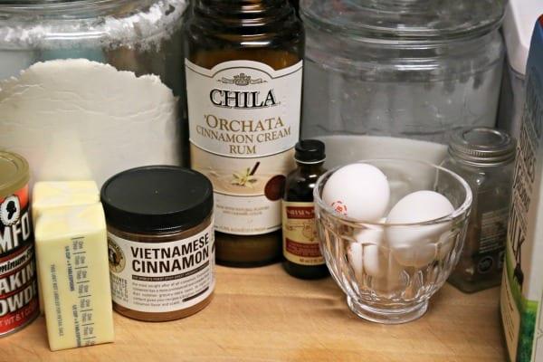 Chila 'Orchata Mini Bundt Cakes - Ingredients | CookingInStilettos.com
