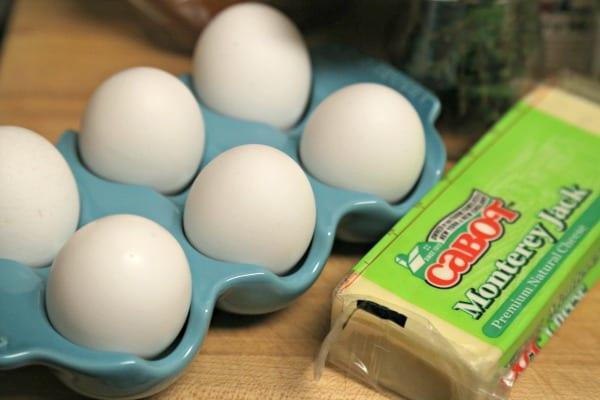 Croque Madame Bread Pudding - Eggs and Cheese   CookingInStilettos.com