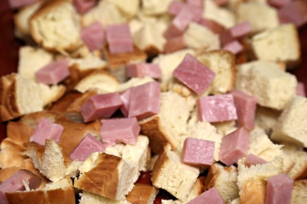Croque Madame Bread Pudding - Layers of Ham and Challah   CookingInStilettos.com