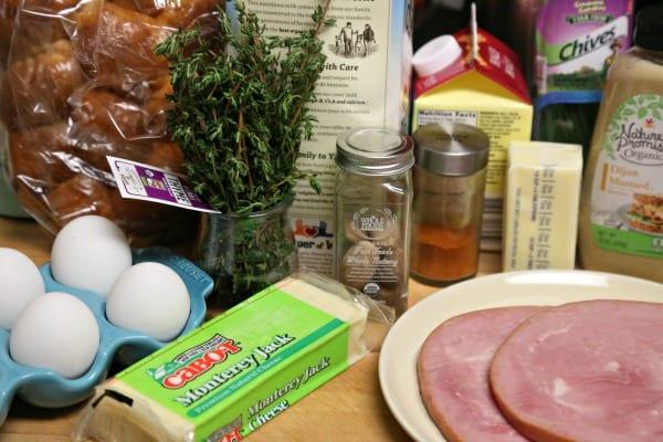 Croque Madame Bread Pudding - Ingredients   CookingInStilettos.com