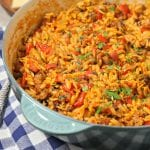 Orzo with Italian Sausage and Roasted Red Peppers | CookingInStilettos.com