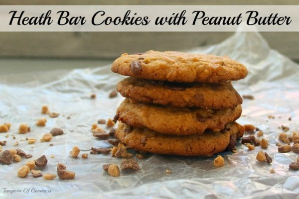 Delicious Dishes Recipe Party #29 | Heath Bar Cookies with Peanut Butter