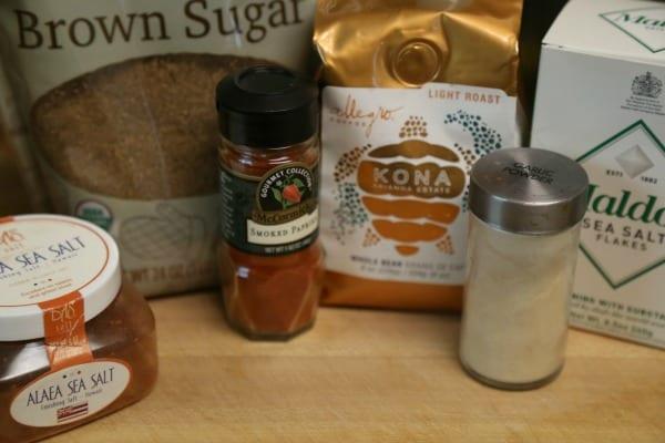 Kona Coffee Spice Rub - Ingredients | CookingInStilettos.com