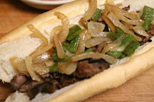 """Philly Cheesesteak Hot Dogs - """"Wit"""" Onions and Peppers 