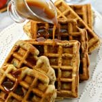 Apple Pancetta Waffles with Bourbon Cider Syrup #BaconMonth