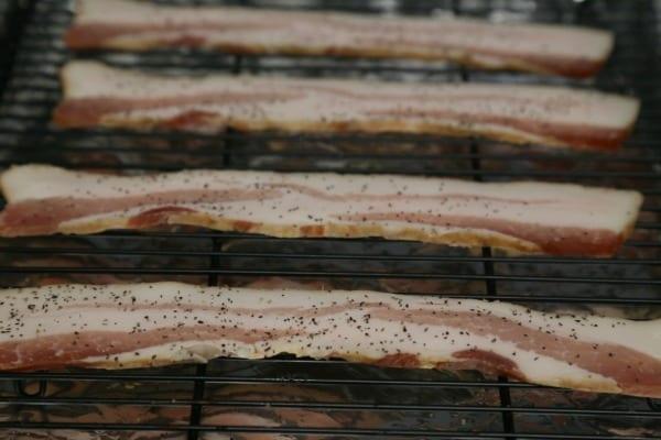 Bacon Bourbon Caramel Popcorn - Black Pepper Bacon   CookingInStilettos.com