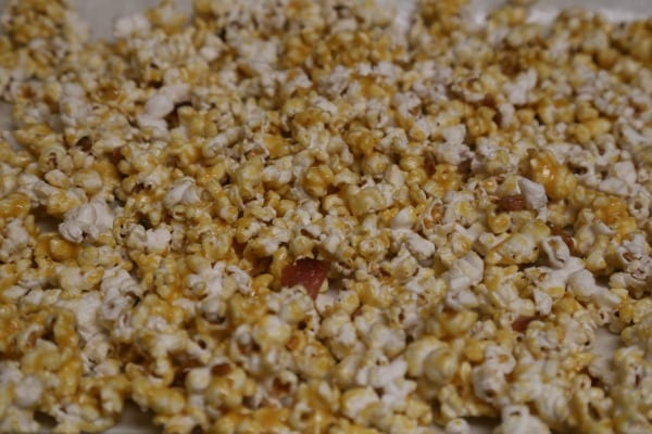 Bacon Bourbon Caramel Popcorn - Ready to Bake | CookingInStilettos.com