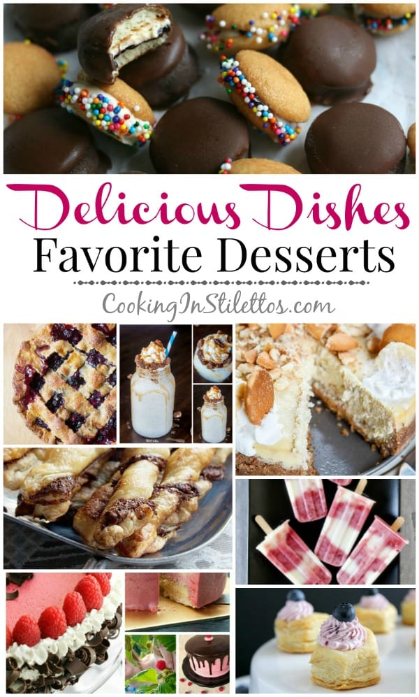 A delicious collection spotlighting favorite desserts, perfect for summer, and our Delicious Dishes Recipe Party from CookingInStilettos.com | @CookInStilettos