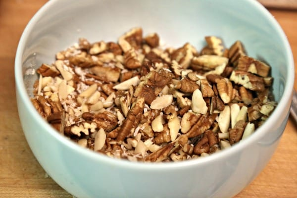 Morning Glory Baked Oatmeal - Mixing up the Topping | CookingInStilettos.com