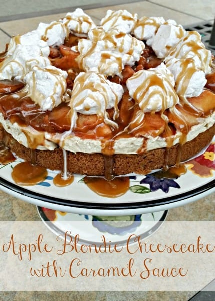 Delicious Dishes Recipe Party - Apple Recipes - Apple Blondie Cheesecake from Clever Housewife | CookingInStilettos.com