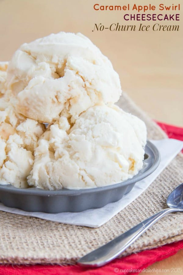Delicious Dishes Recipe Party - Apple Recipes - Apple Cheesecake No Churn Ice Cream | CookingInStilettos.com