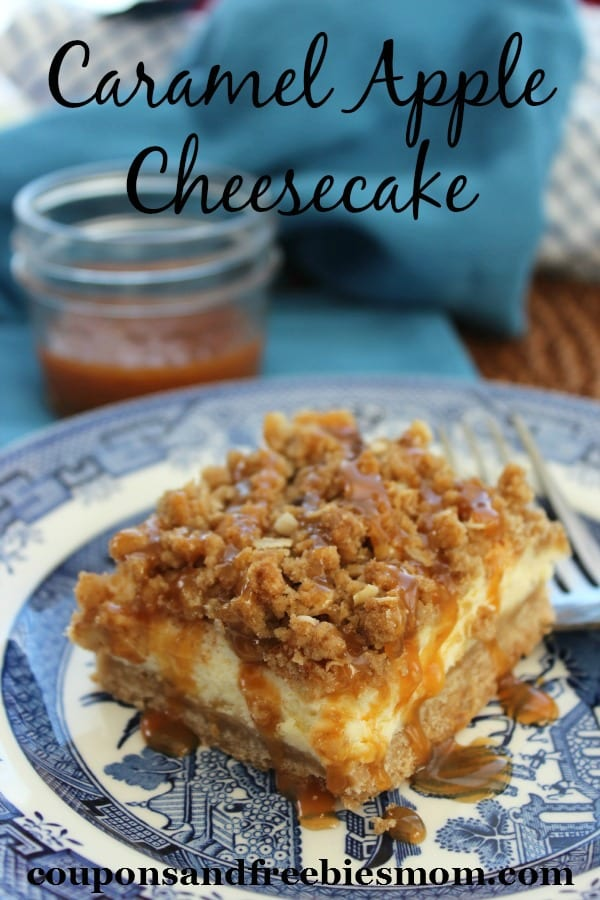 Delicious Dishes Recipe Party - Apple Recipes - Caramel Apple Cheesecake | CookingInStilettos.com