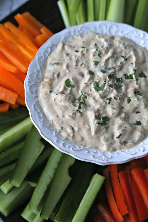 This Caramelized Onion Whipped Ricotta from CookingInStilettos.com takes the standard onion dip to new heights. Sweet and savory caramelized onions are whipped with fresh thyme and rich ricotta cheese for a delicious dip, perfect for entertaining, tailgating or just because.
