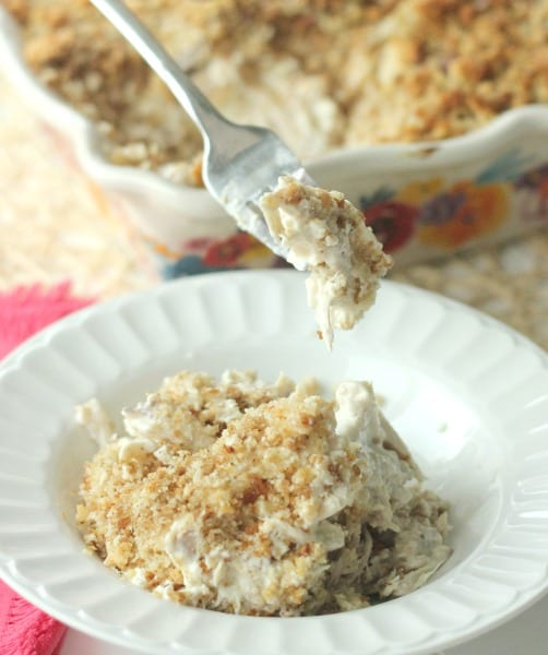 Delicious Dishes Recipe Party - Favorite Comfort Foods - Company Chicken Casserole from Clever Housewife   CookingInStilettos.com