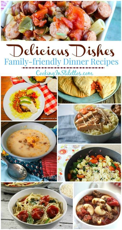 A delicious collection spotlighting family friendly dinner recipes and our Delicious Dishes Recipe Party from CookingInStilettos.com | @CookInStilettos
