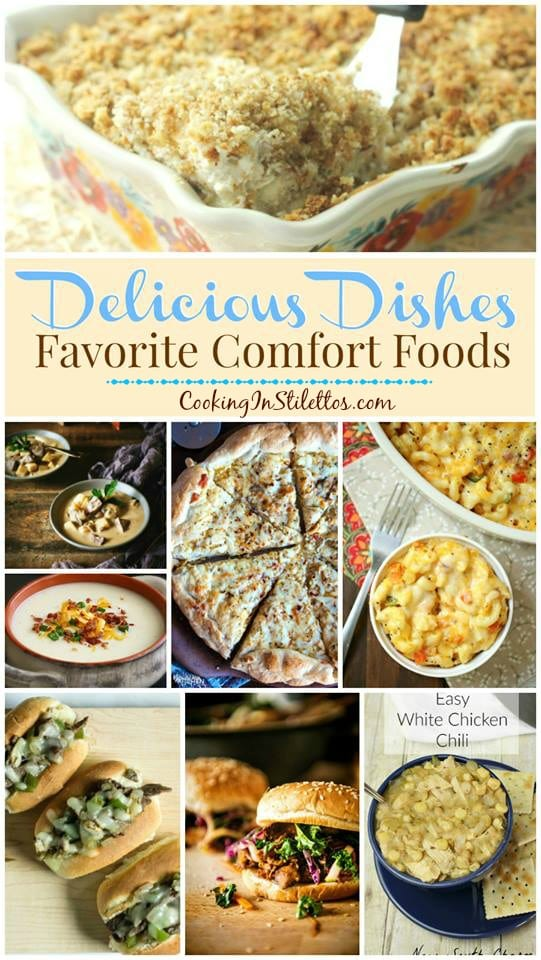 A delicious collection from CookingInStilettos.com spotlighting favorite comfort foods, perfect for fall and winter, and our Delicious Dishes Recipe Party!