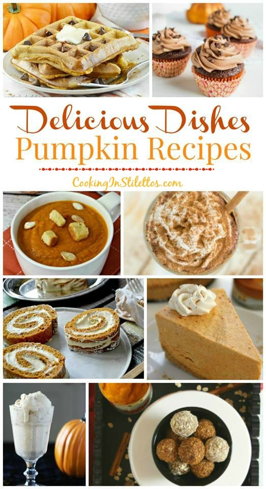 A delicious collection at CookingInStilettos.com spotlighting the best pumpkin recipes perfect for fall. Share your favorite recipes at our Delicious Dishes Recipe Party!