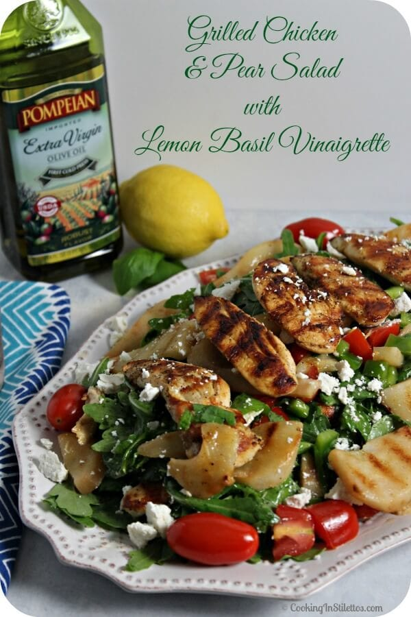 Delicious Dishes Recipe Party - Pumpkin Recipes - Grilled Chicken and Pear Salad | CookingInStilettos.com