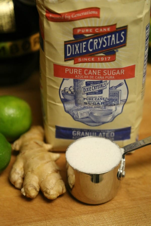 La Diabla Cocktail- Making the Lime Ginger Simple Syrup | CookingInStilettos.com