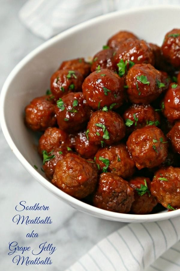 Southern meatballs aka grape jelly meatballs cooking in stilettos recipe image forumfinder Image collections