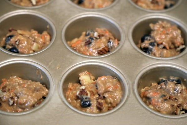 Blueberry Morning Glory Muffins- Ready to Bake | CookingInStilettos.com